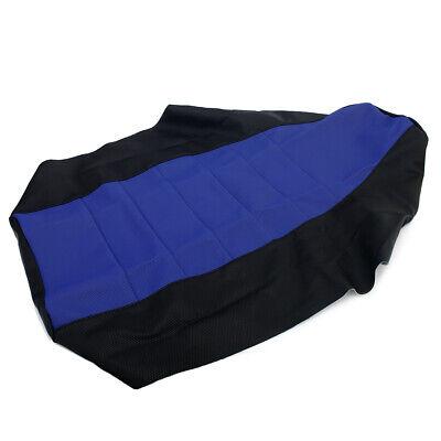 ATV Quad Gripper Seat Cover Blue + Black for Yamaha YFZ350 Banshee YFZ 350 87-06