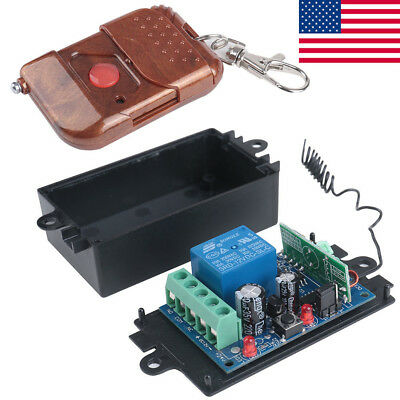 DC 12v 10A relay 1CH wireless RF Remote Control Switch Transmitter + Receiver BT