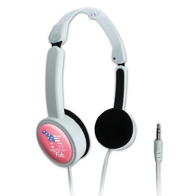 American Fido Dog American Flag Travel Portable On-Ear Foldable Headphones
