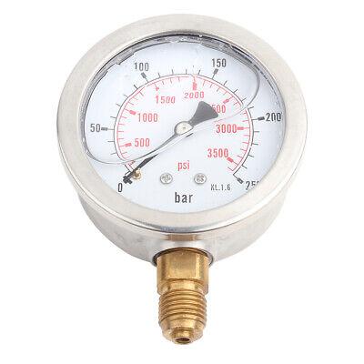 0-250bar 0- 3750psi G14 Thread 63mm Dial Hydraulic Water Pressure Gauge Meter