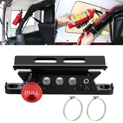 Car Bar Fire Extinguisher Holder Mount Bracket Adjustabl For Jeep Wrangler