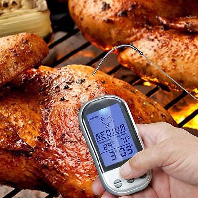 Digital Wireless Barbecue BBQ Meat Thermometer Remote Grill Cooking Probe HOT ZH