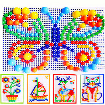 New Children Puzzle Peg Board With 296 Pegs For Kids Early Educational Toys