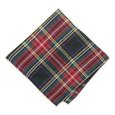 """Christmas Tartan Plaid Handkerchief Pocket Square, 12"""" X 12"""" *SALE*"""