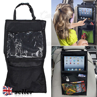 Car Van Seat Back Kids Organiser Tidy Multi-Pocket Headrest Storage Travel Stow