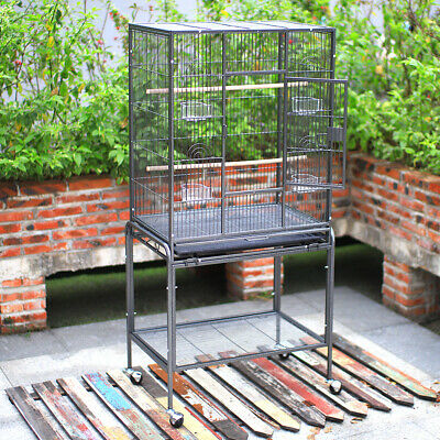 Large Metal Birds Cage With Stand/Perches Aviary Parrot Budgie Canary Cockatiels
