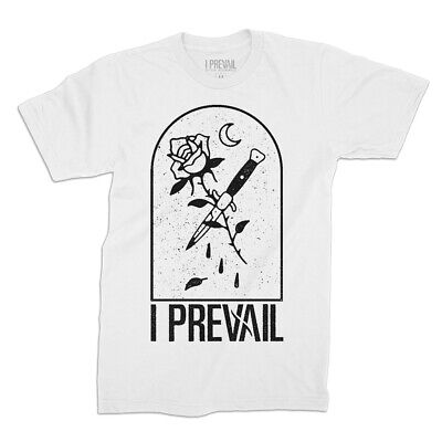 Authentic I PREVAIL Switchblade Post Hardcore T-Shirt White S-3XL NEW