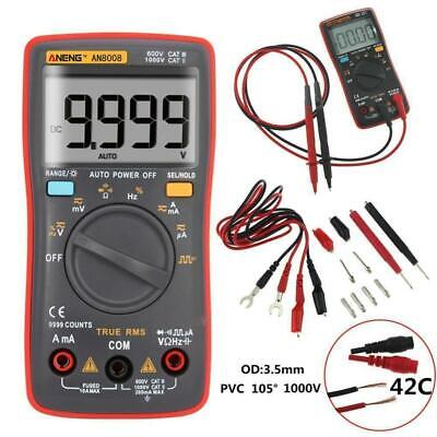 An8008 True-rms Lcd Digital Multimeter 9999 Counts Ammeter Voltage Ohm Meter Up