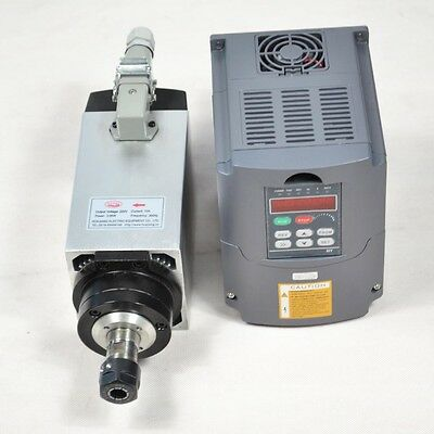 3kw Er20 Air-cooled Spindle Motor 4 Bearings W Matching 3kw Vfd Inverter Drive