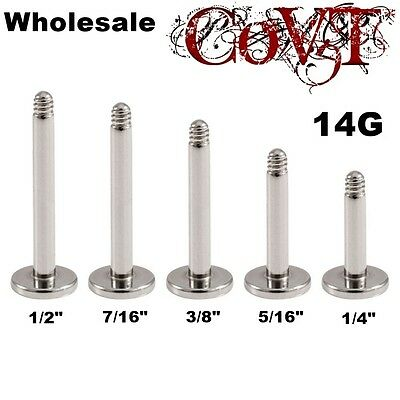 14G Wholesale Replacement Post Labret Monroe Lip Tragus Ring Piercing Bulk Lot  ()