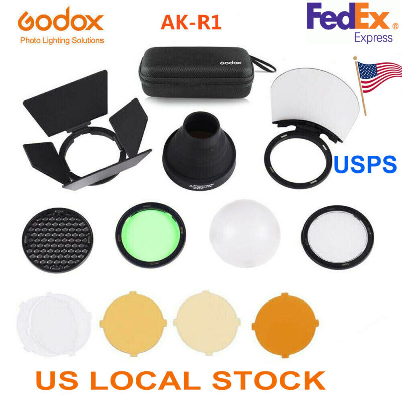 US Godox AK-R1 Adapter Pocket Flash Light Accessory Set Kit for Godox H200R v1