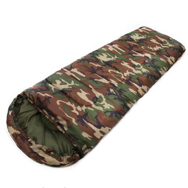 BT Cotton Camping sleeping bag,15~5degree, envelope style, camouflage