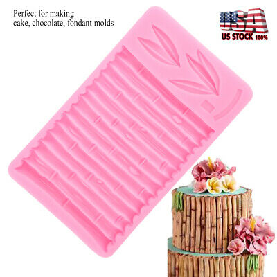 Bamboo Silicone Cake Mould DIY 3D Fondant Mold Cake Decor Tools Chocolate Mould