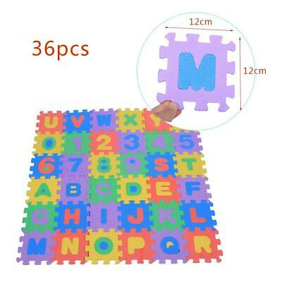 36Pcs Interlocking EVA Foam Tiles Floor Mat Numbers Letters Kid Play Mat 12*12cm Foam Flooring Kids
