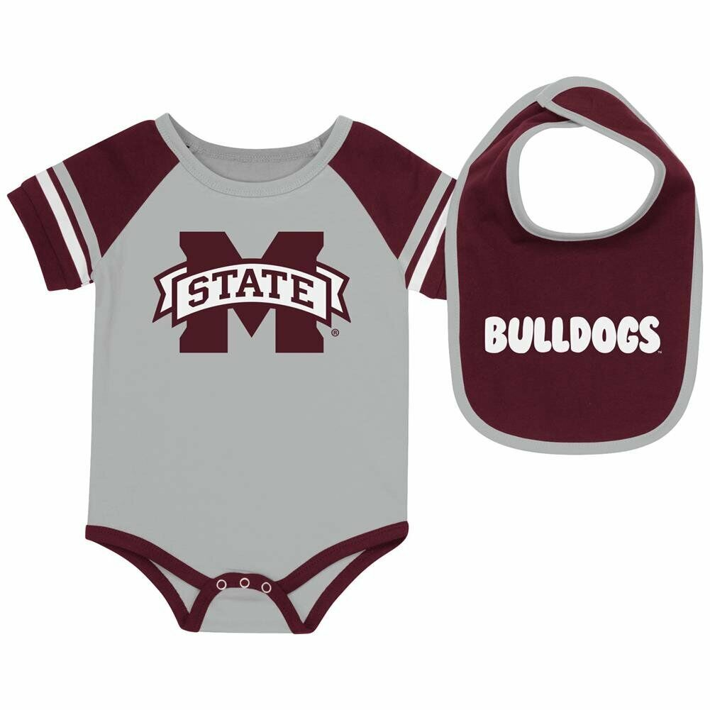 Mississippi State Bulldogs Handmade Baby Bib