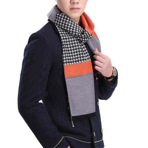 New Fashion Men/'s Scarf Swallow Gird Silk Velour Warm Plaid Scarves Winter Fall