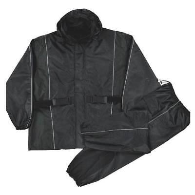 Nex Gen Men's Motorcycle Rain Suit, Reflective Piping & Heat Guard LARGE 2225