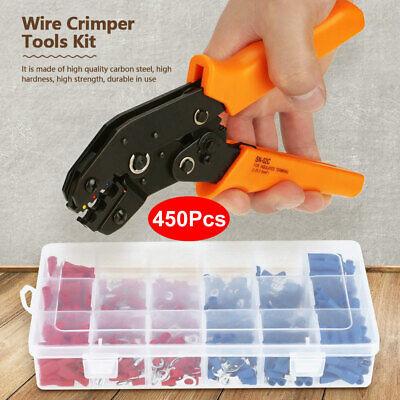 Wire Crimper Plier Crimping Tool Kit W450pcs Electrical Terminal Connectors