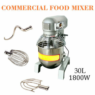 30qt Commercial Dough Food Mixer 2.4hp Gear Driven Bakery Blender Self Pick Up