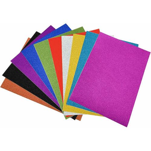 10pcs Glitter EVA Foam Paper Sheets Sponge Soft Touch Arts C