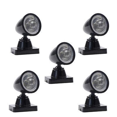 5pcs Model Railway Christmas Lamp Post Flood Lights O Scale LEDs NEW LYC18