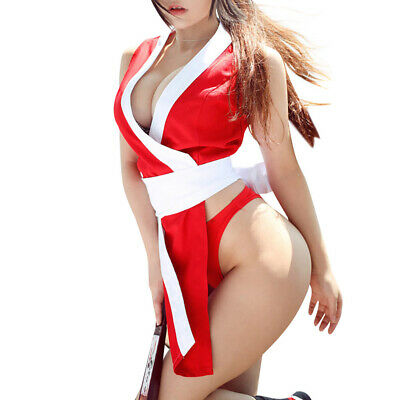 Dead or Alive Sexy Ninja Mai Shiranui Kasumi Cosplay Costume Halloween Party](Women Ninja Costume)