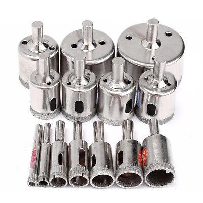 15pcs Diamond tool drill bit hole saw set for glass ceramic marble 6mm-50mm J5X6 ()