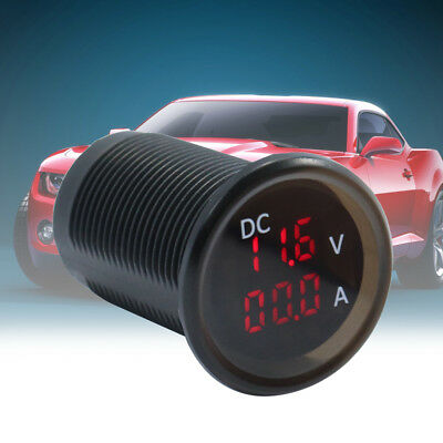 4.5-30v Car Rv Marine Boat Led Digital Voltmeter Ammeter Gauge Meter Gracious