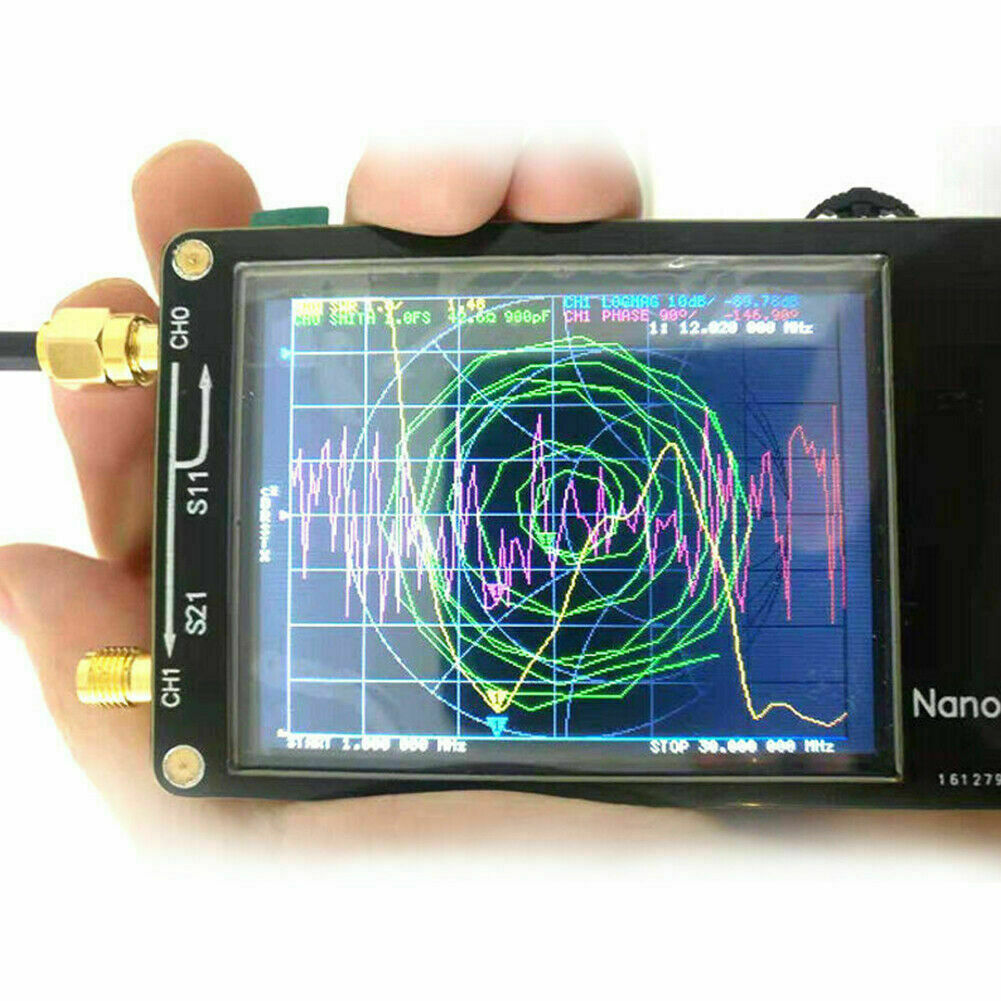 Анализаторы кабелей и антенн NanoVNA HF VHF UHF UV Vector Network