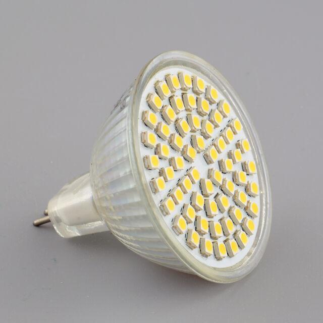 MR16 Warm White 60 LED Energy Saving Spot Down Light Lamp Bulb 12V 6W Bright