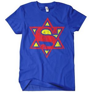 SUPER-JEW-TSHIRT-Funny-Hebrew-Jewish-TEE-Cool-Israel-Superman-People-Trust-Me-Im