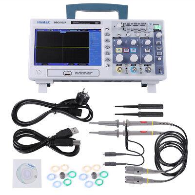 Hantek Dso5102p 100mhz 2ch Digit Oscilloscope 7 64k Tft Color Lcd 1gsas Usb Is
