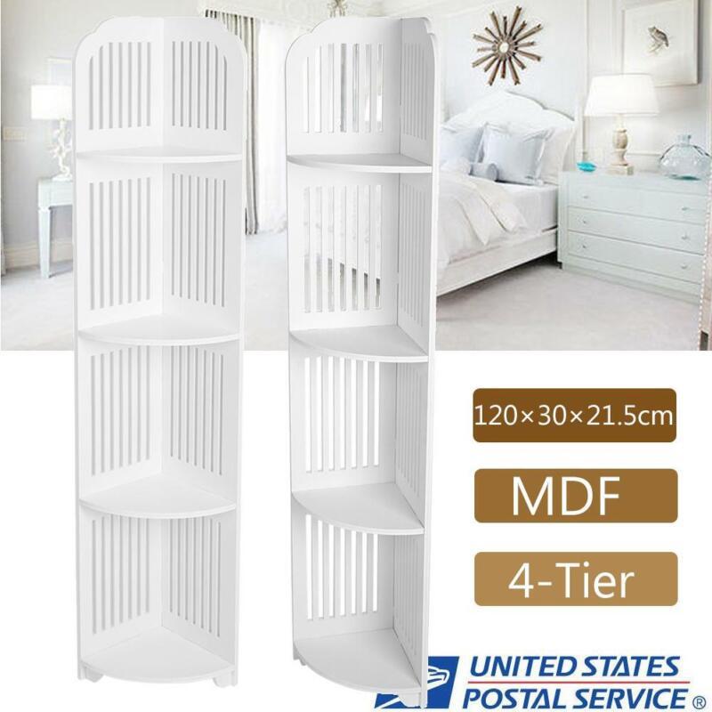 White Corner Shelf Bathroom Bedroom Storage Rack Wall Display Shelves Organizer