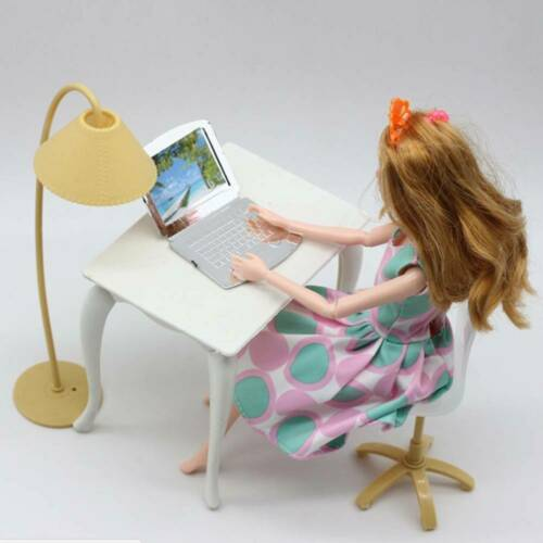 8Pcs Toys Barbie Doll Sofa Chair Couch Desk Lamp Furniture Set Disassembled M5F5