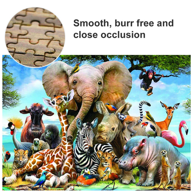 1000 piece Animal World Jigsaw Puzzle Puzzles For Adults Learning Education Mini
