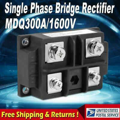 1 Pcs 4 Terminals Single-phase Diode Bridge Rectifier 300a Amp 1600v Mdq300a Usa