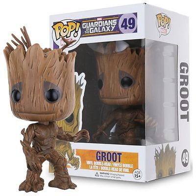 Funko POP! Marvel Guardians of the Galaxy Groot Vinyl Figure Toys Gifts #49 5.5""