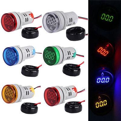 Ac 12-500v Led Display Voltmeter Voltagecurrent Meter Indicator Pilot Light Usa