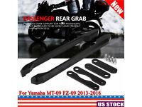 Qiilu CNC Aluminum Motorcycle Passenger Rear Grab Bar Rear Seat Rail Kit Compatible with Yamaha MT-09 FZ-09 13-16