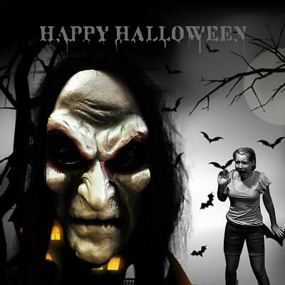 UK New Scary Mask Halloween Zombie With Black Hair Horror bleeding Ghost 1PCS  (Halloween Masks Uk Horror)