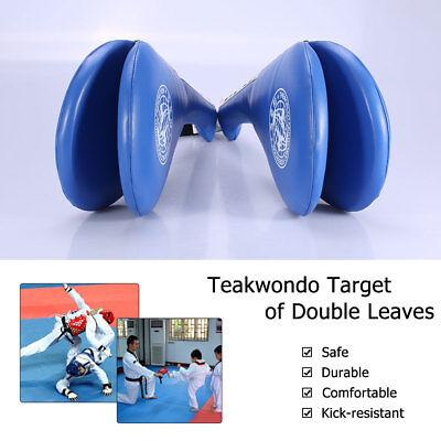 Taekwondo Double Kick Pad Target Tae Kwon Do Karate Kickboxing Practice Blue US
