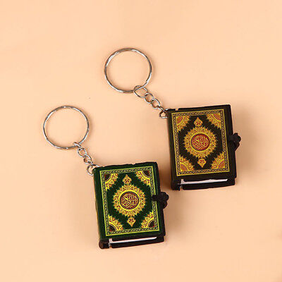Mini Quran Arabic Pendant Keychain Bag Car Hanging Key Ring Birthday New Trendy
