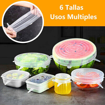 12Pcs Elastic Silicone Bowl Lid Reusable Refrigerator Food Salad Cups Jar Cover Cling Film, Foil & Food Wraps