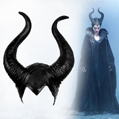 Women Maleficent Horns Halloween Party Witch Cosplay Black Headpiece Hat Prop US - Halloween Maleficent Horns
