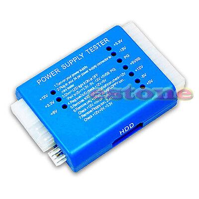PC 20/24 Pin PSU ATX SATA HD Power Supply Tester Blue SAUS