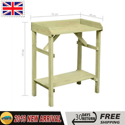 Garden Planter Table FSC Impregnated Pinewood Simple Plant Display Stand Storage
