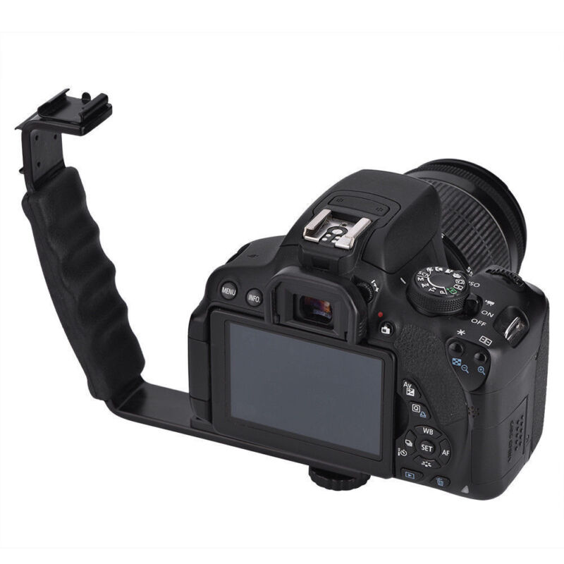 L-Shaped Camera Flash Bracket Holder Hot Shoe Mount For Speedlite Camera DSLR LJ