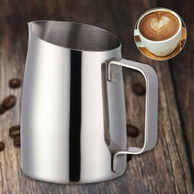 400ML Stainless Steel DIY Coffee Espresso Jug Milk Frothing Craft Pitcher Cups Coffee, Tea & Espresso Accessories