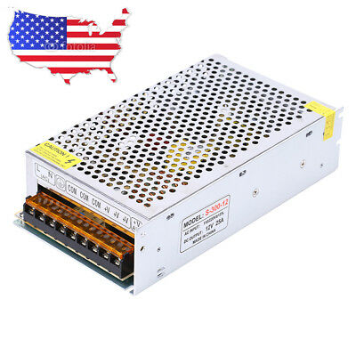 Ac 110v 220v To Dc 12v 25a 300w Transformer Switch Power Supply Converter Cctv