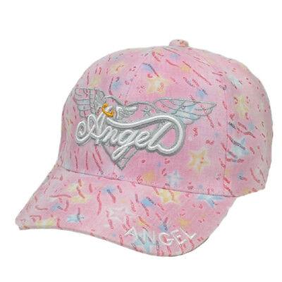Ali D'Angelo Cuori Rosa Glitter Ragazze Giovani Moda Regolabile Cappello